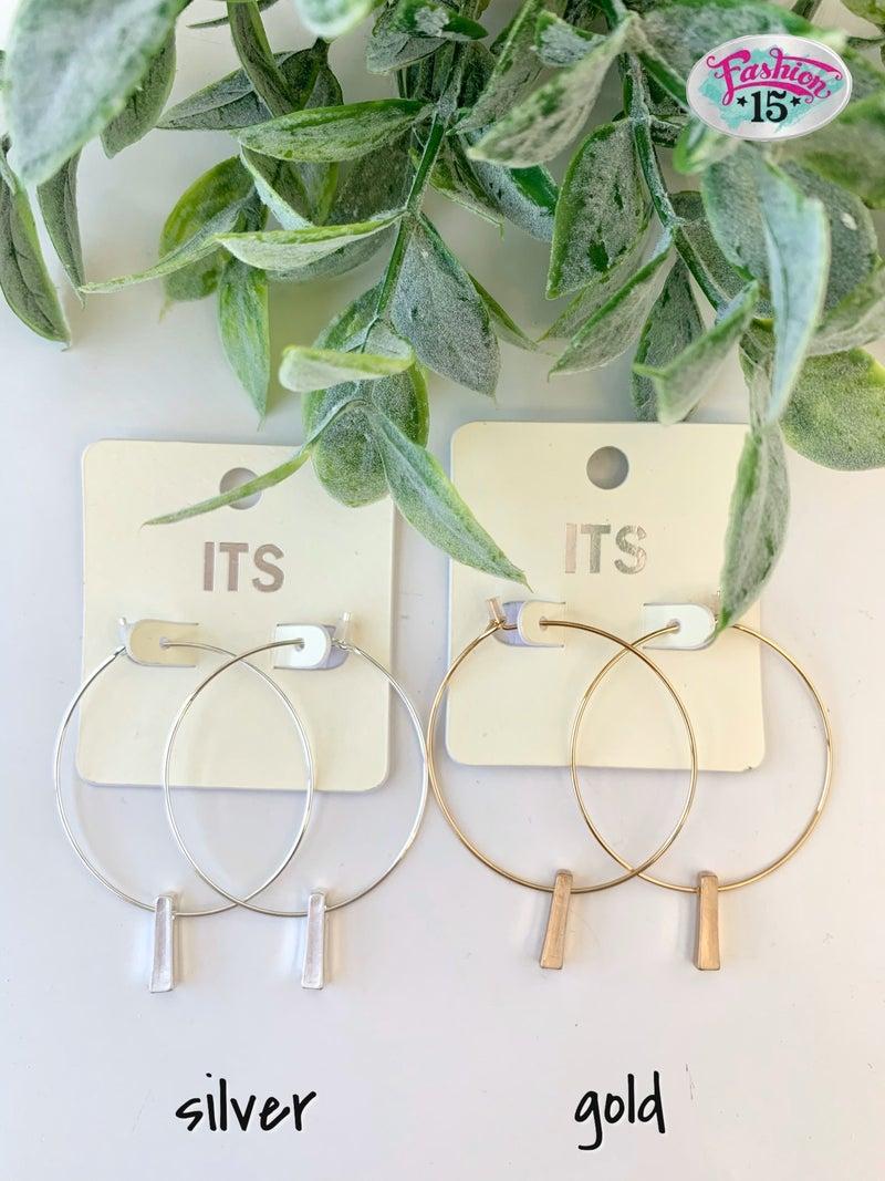 Circle Earrings w/ Dangle