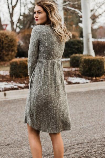 Baby Doll Sweater Dress w/ Scarf