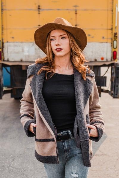 *.Erin's Closet* Suede Fur Rider Jacket