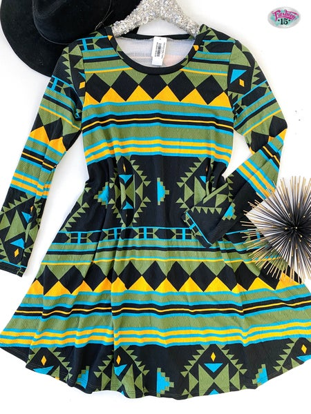 .Colorful Aztec Tunic