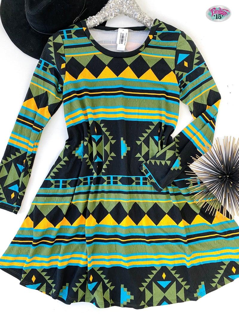 .Colorful Aztec Tunic