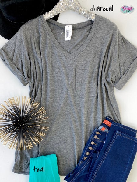 Plus Basic V-Neck Top