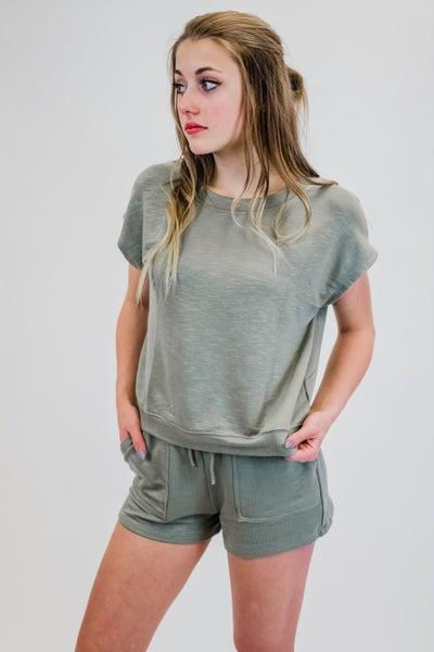 Solid Knit Short Set