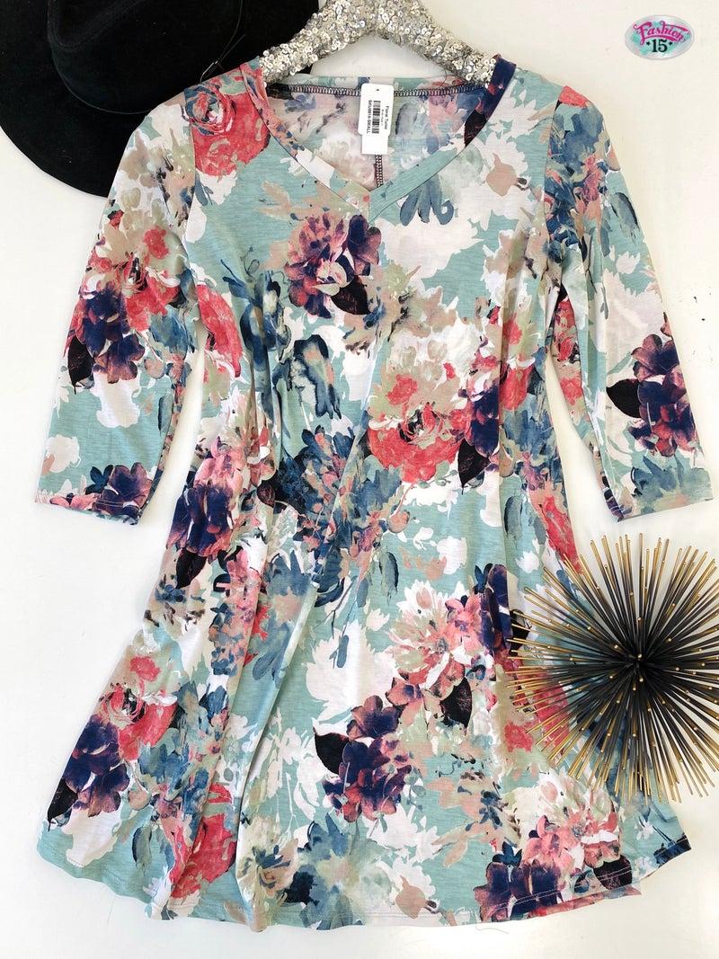 .Floral Tunic *Final Sale*