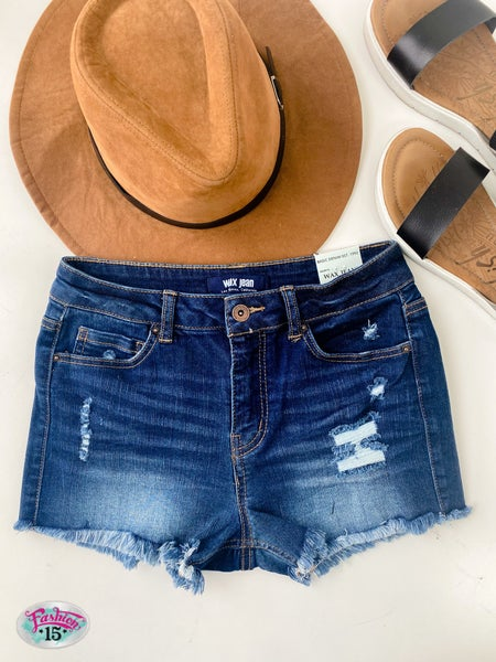 ~ Dark Washed Shorts