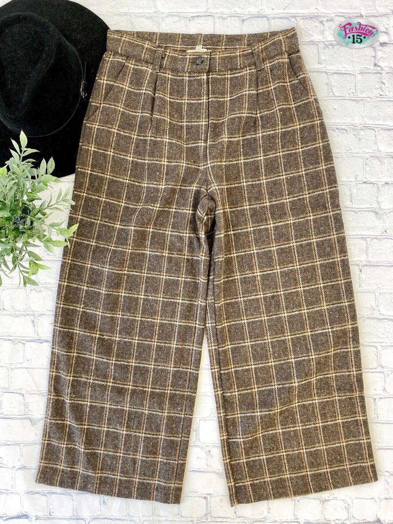 Mocha Striped Pants
