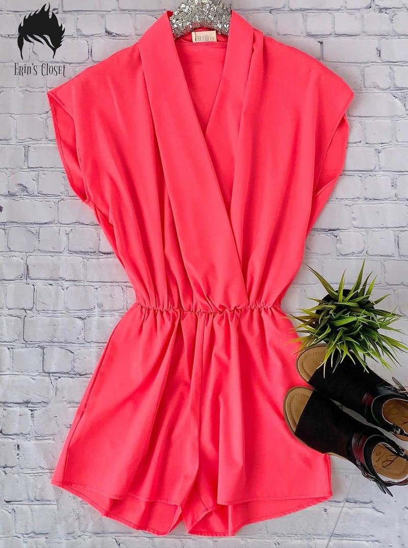 * Erin's Closet * Hot Pink Romper