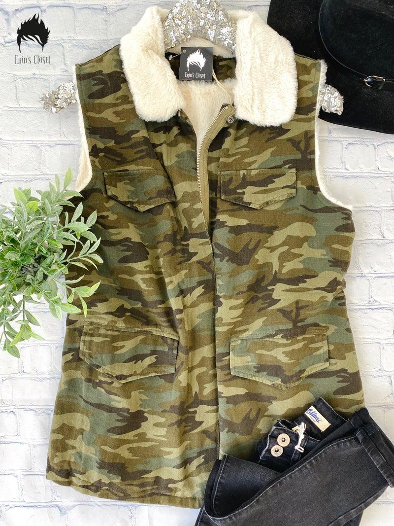 *Erin's Closet* Super Soft Camo Vest