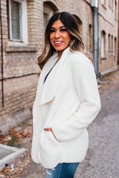 .Cream Faux Fur & Sherpa Jacket
