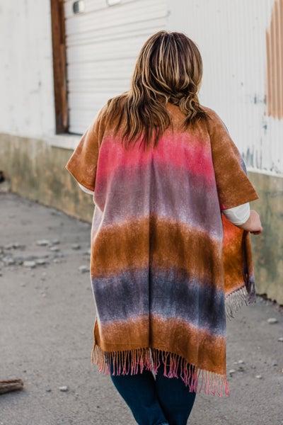 Super Soft Color Block Kimono