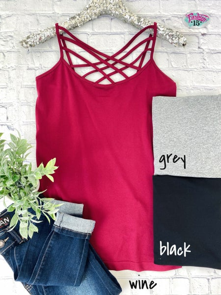 Plus Cage Knit Cami