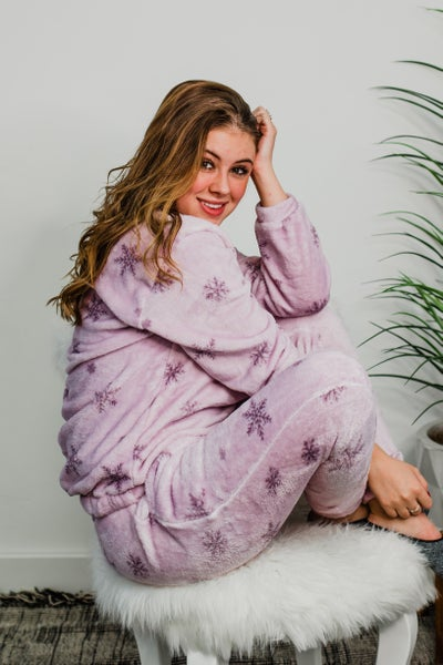Super Soft Lilac Snowflake PJ Set