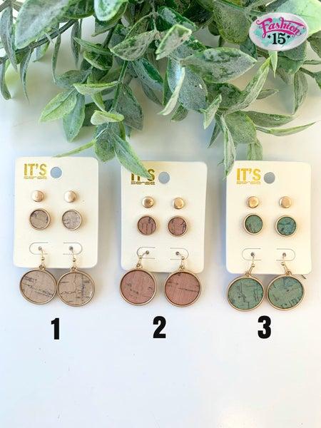 3 Circle Earrings