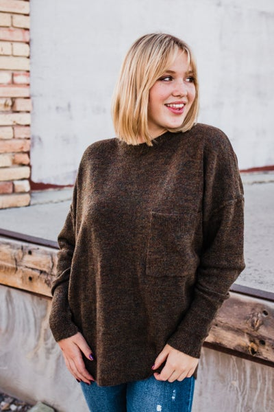 *Erin's Closet* Knit Sweater w/ Pocket