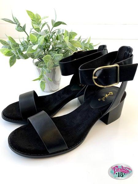 Black Ankle Strap Shoe *Final Sale*