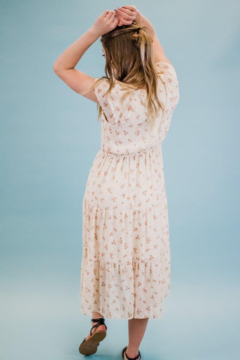 Light Peach Floral Dress