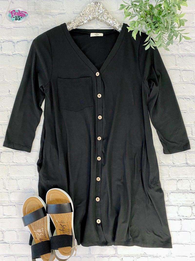 Super Soft Black Tunic Top