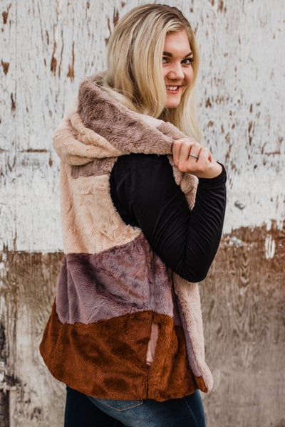*Erin's Closet* Super Soft Hooded Vest