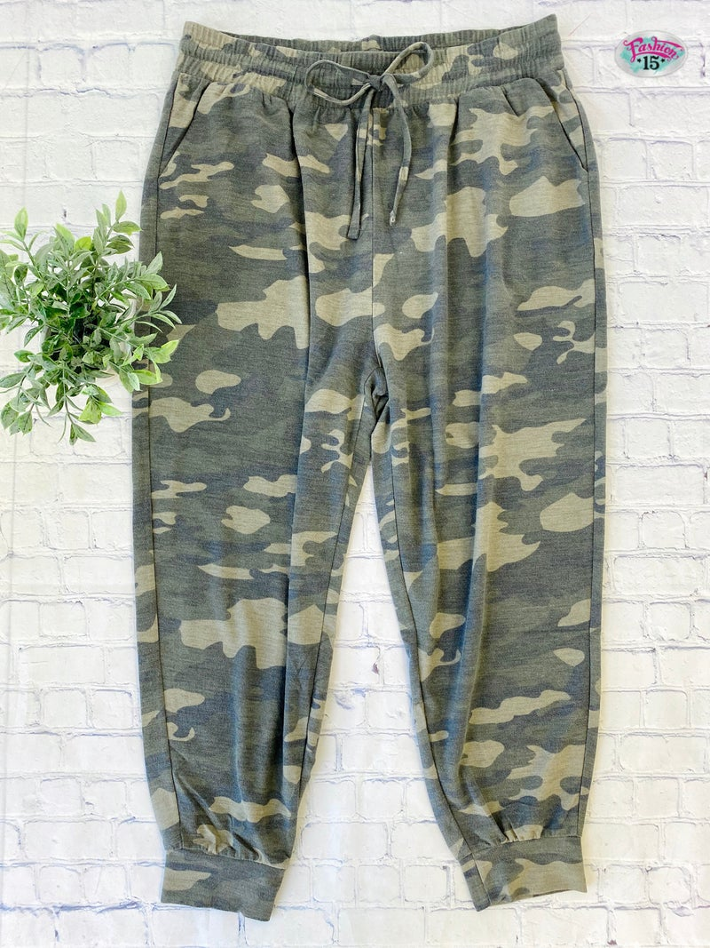 Plus Dusty Camo Joggers