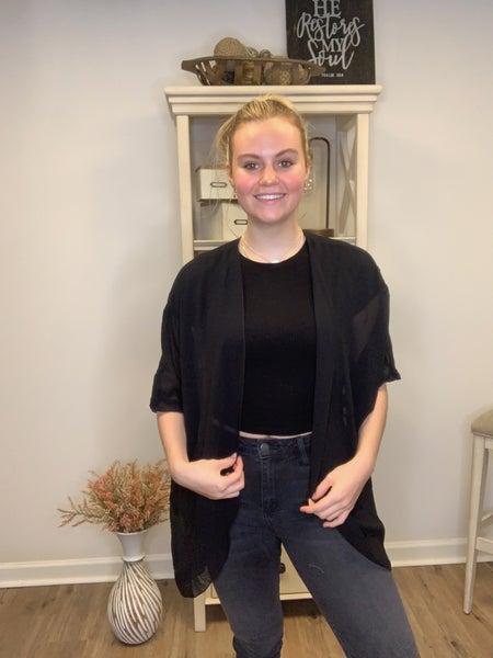 Marisa Jill's Original Short Sleeve Black Kimono