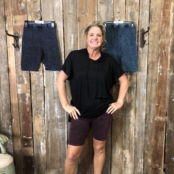 Mineral Wash Biker Shorts (GA2)