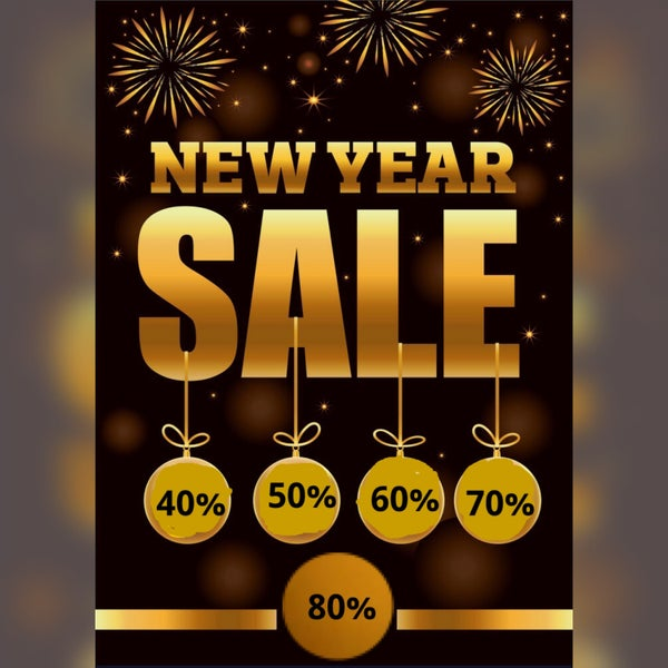 Biggest Ever End of the Year Sale! 12/29/2020 thru 1/1/2021
