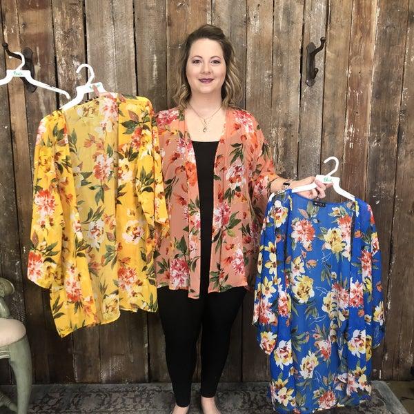 Floral Print Kimono (GA2)
