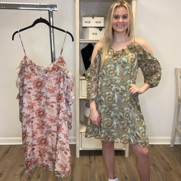 Boutique Item: MJB First Look Lined Floral Spaghetti Strap Dress 7-13-20