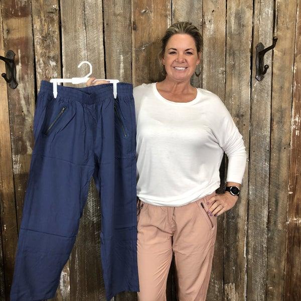 Solid Capri Pants with Zip Pocket Detail (GA2)