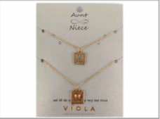 Gold Aunt And Niece Necklace