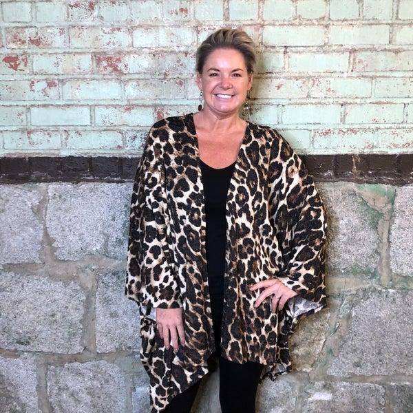 Leopard Print Kimono (GA2)
