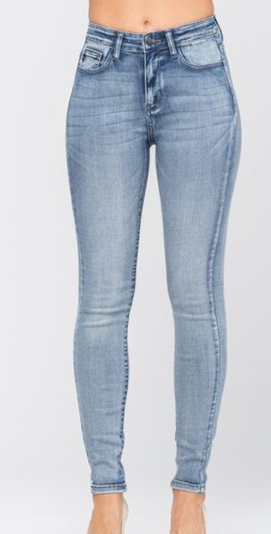 Judy Blue High Rise Heavy Sand Skinny Jeans (GA2)