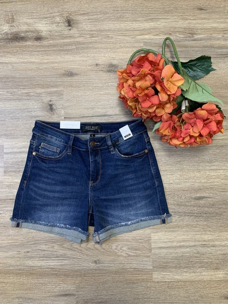 Boutique Item: Judy Blue Cuffed Hem Denim Shorts