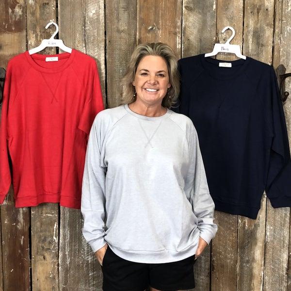 Cotton Raglan Sleeve Round Neck Pullover (GA2)