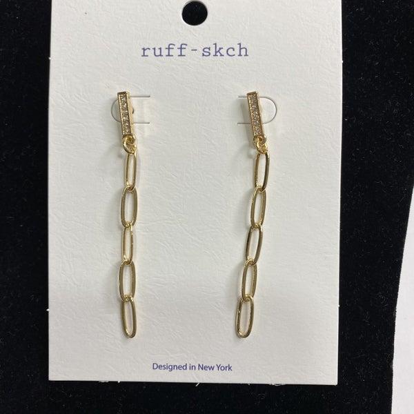Gold Paper Clip Dangle Earrings