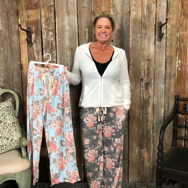 Floral Print Lounge Pants with Pockets (GA2)