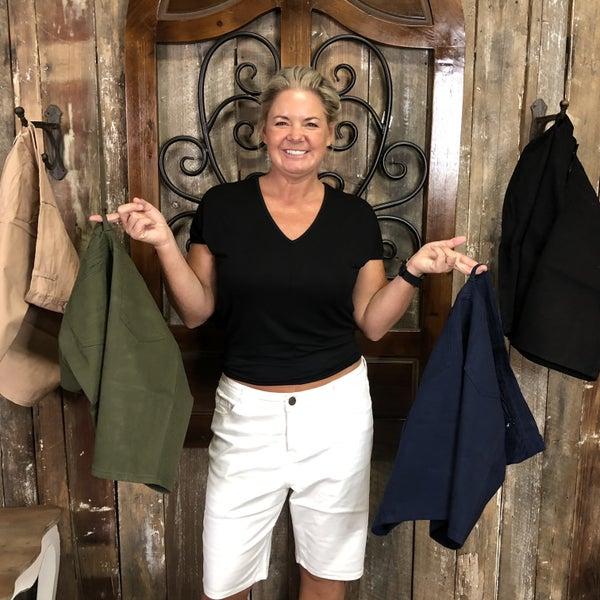 Plus Solid 5-Pocket Bermuda Shorts (GA2)