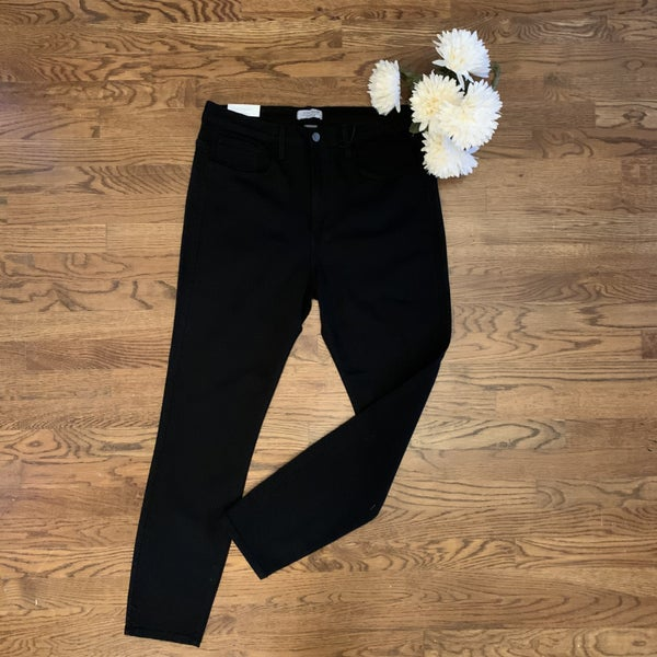 Boutique Item: Plus Black High Waisted Skinny Jeans MJB (L)