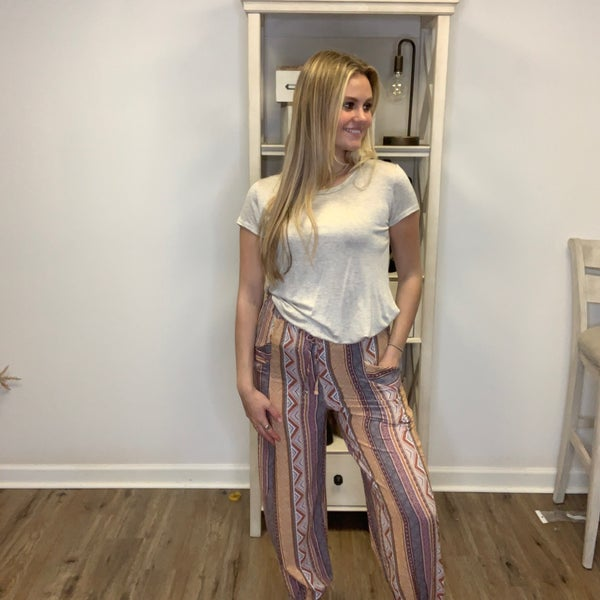 Boutique Item Easel Tribal Printed Rayon Gauze Pants MJB