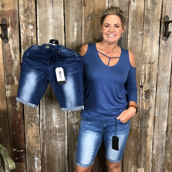 Jean Bermuda Shorts with Pockets(GA2)