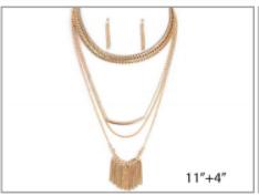 Multi Layered Gold Necklace Set