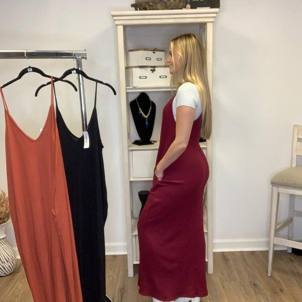 Solid Oversized Knit Jumper Dress w/ Pockets