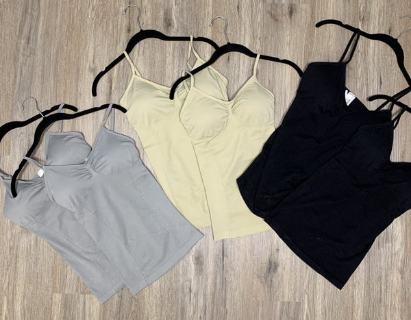 Boutique Item: Seamless Cami With Built in Bra and Adjustable Straps