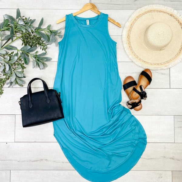 Solid Sleeveless Midi, Ash Mint