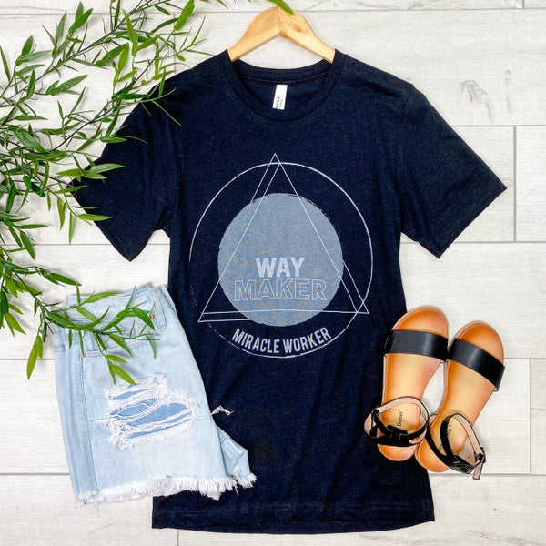 *Kendra's Collection* Way Maker Graphic Tee, Black