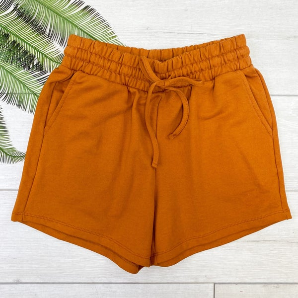 French Terry Shorts, Almond