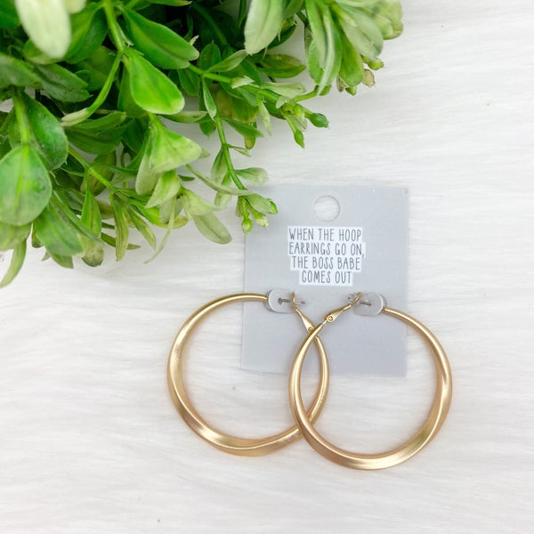 Twisted Hoop Earring, Gold