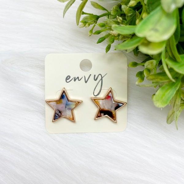 Star Stud Earrings, Multi