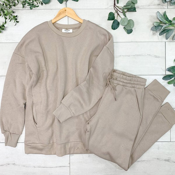Pullover and Pants Set, Ash Mocha