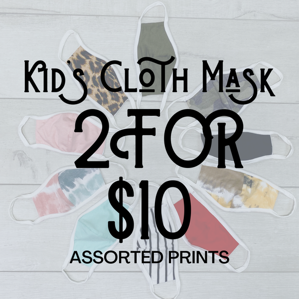 Kid's Cloth Face Cover Set [[2 FOR $10]]